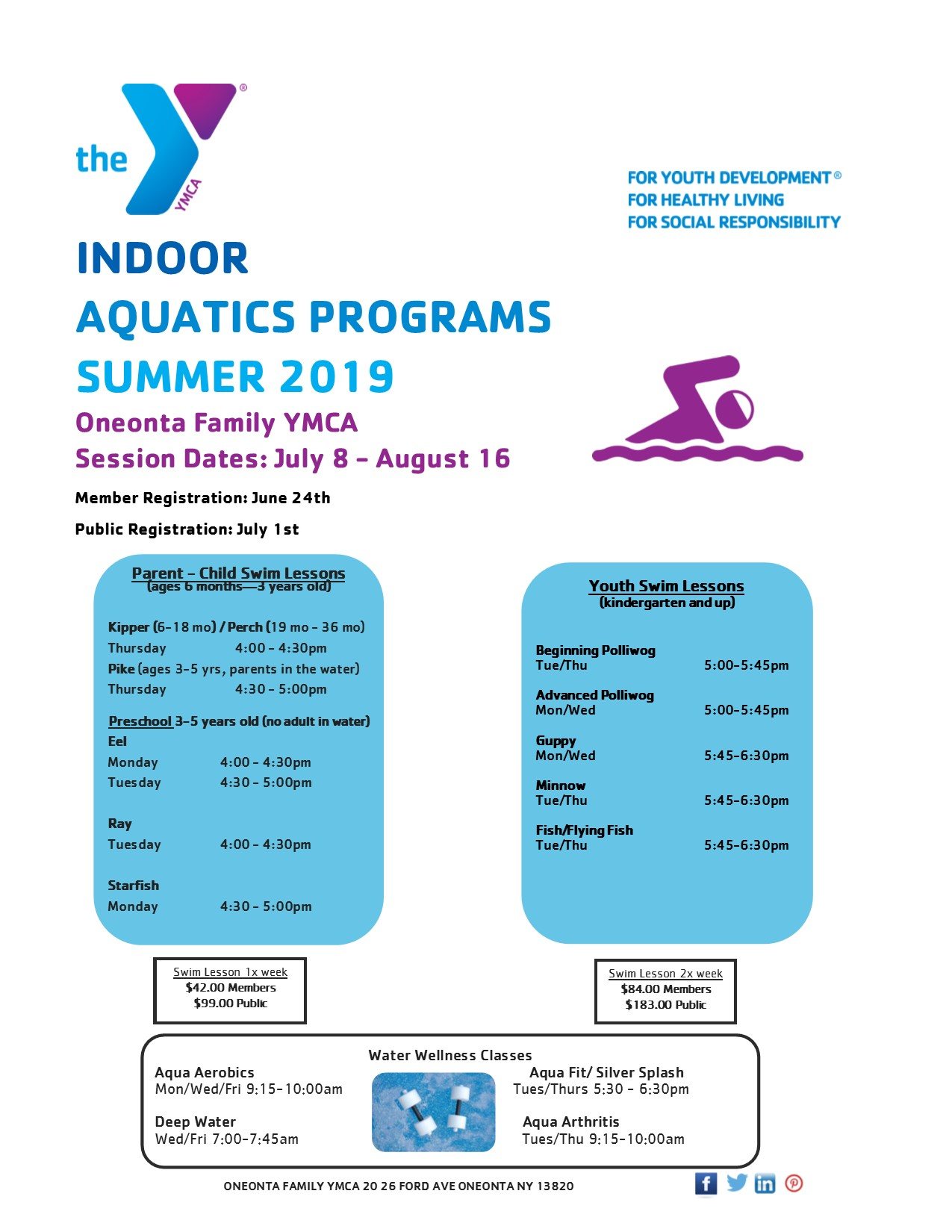 Indoor Summer Swim Lessons