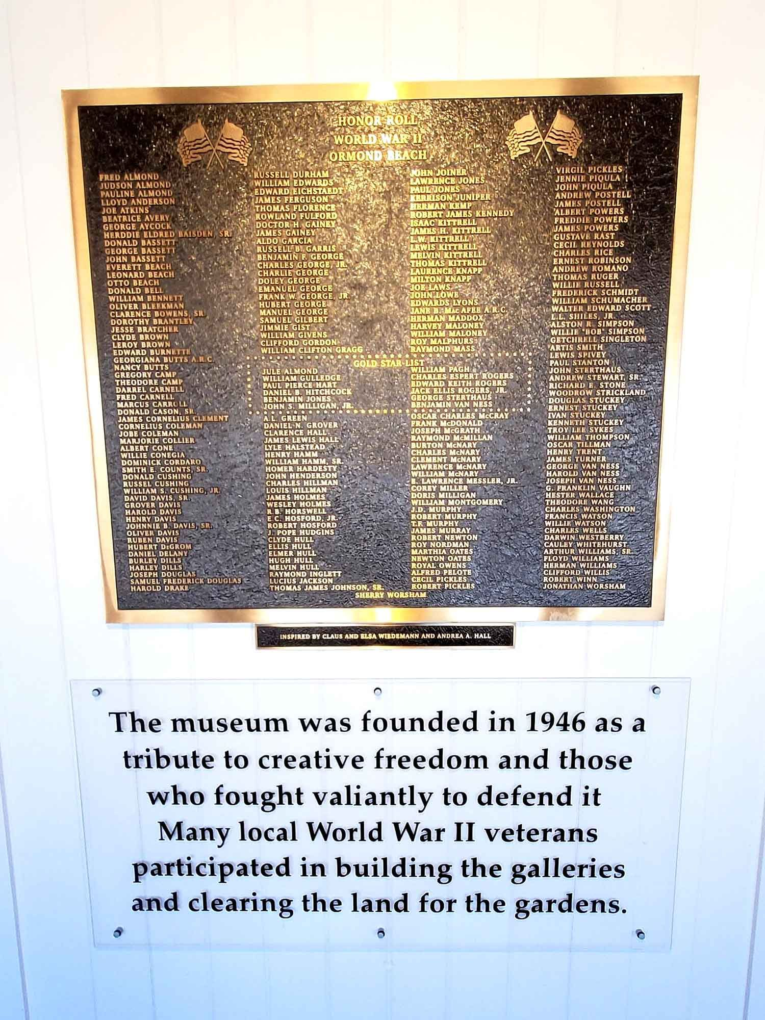 WWII Honor Roll