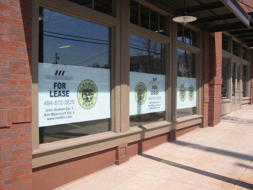 Labels Graphics Decals And Window Lettering Atlanta GA - Window decals for business atlanta