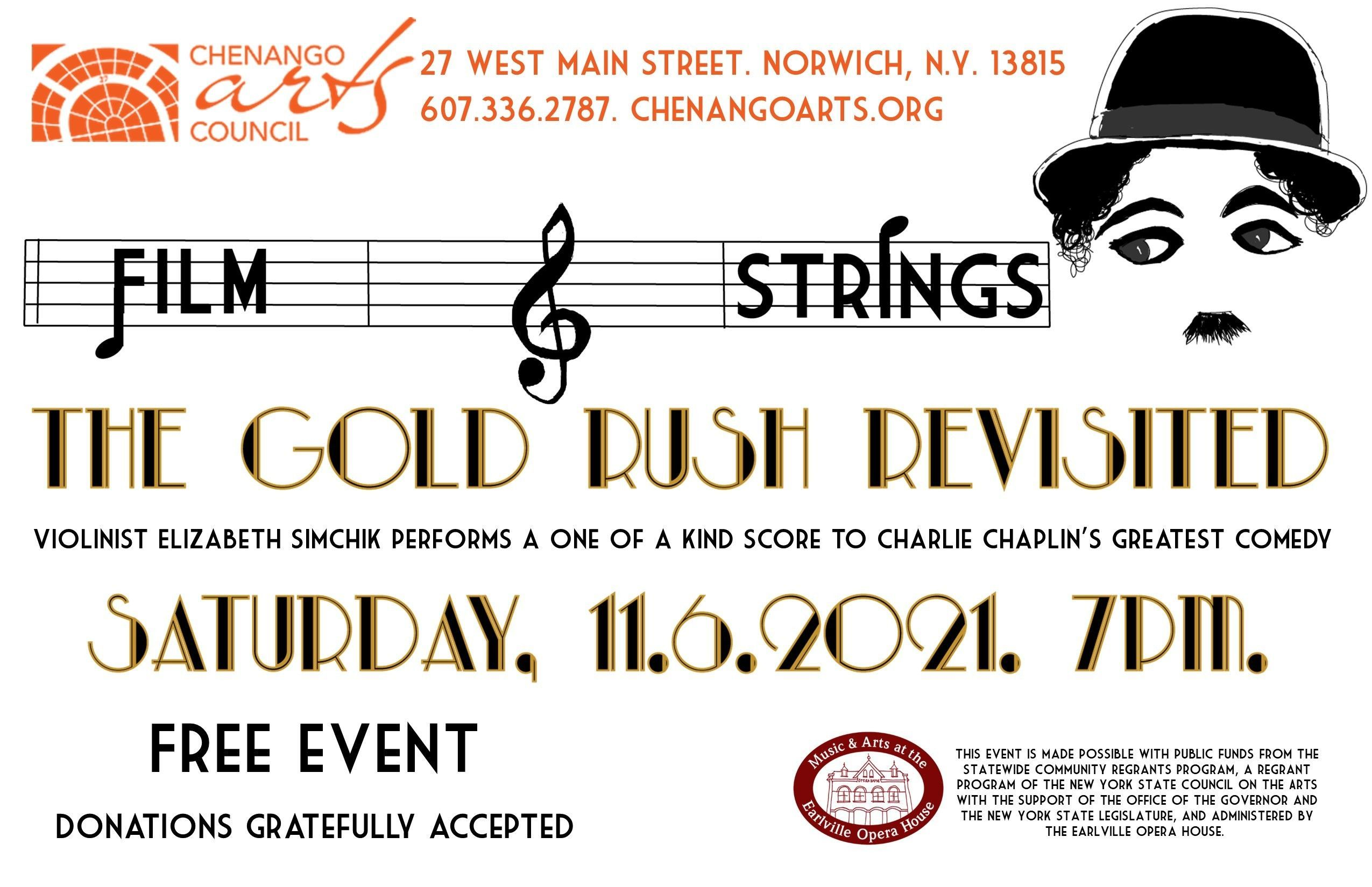 Film and Strings The Gold Rush Revisited