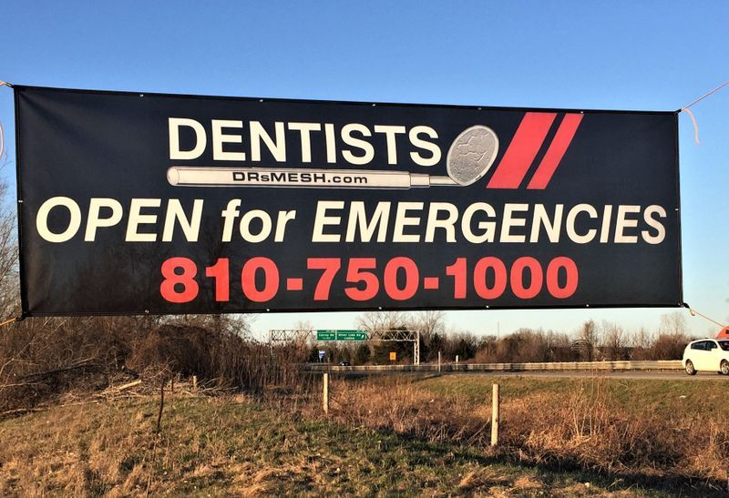 Open for Emergencies Mesh Banner