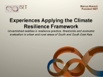 Experiences Applying the Climate Resilience Framework