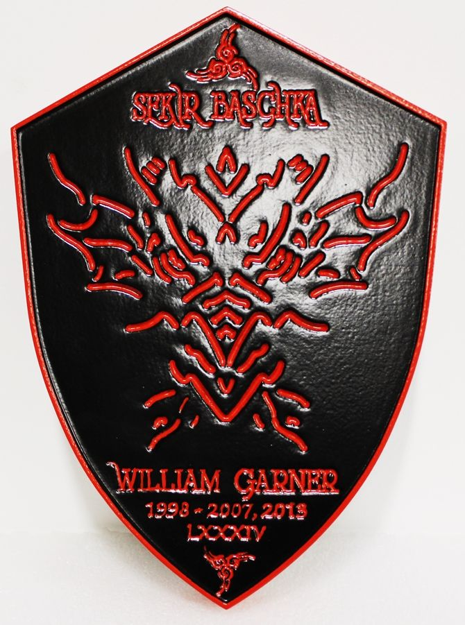 "UP-3275 - Shield Plaque of ""Sekir Baschka"""
