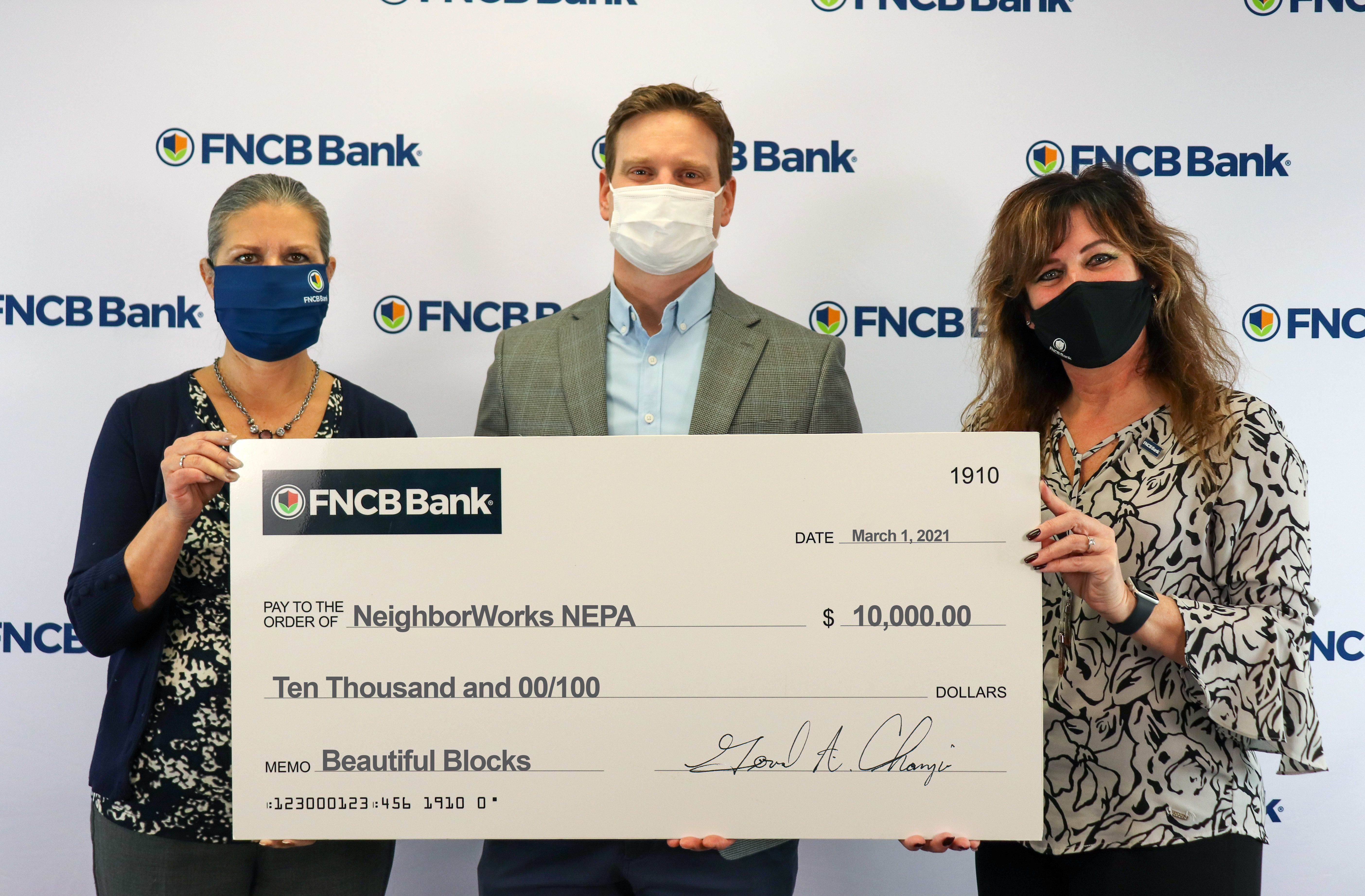 FNCB Bank Donates to Beautiful Blocks Program