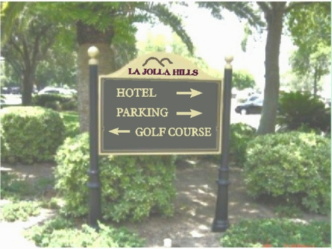T2397 - Hotel Resort Directional and Wayfinding  Sign