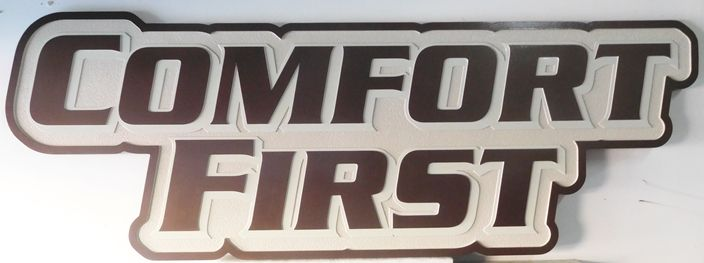 """SA28493 -  Carved High-Density-Urethane (HDU) Sign for the  """"Comfort First""""  Store"""