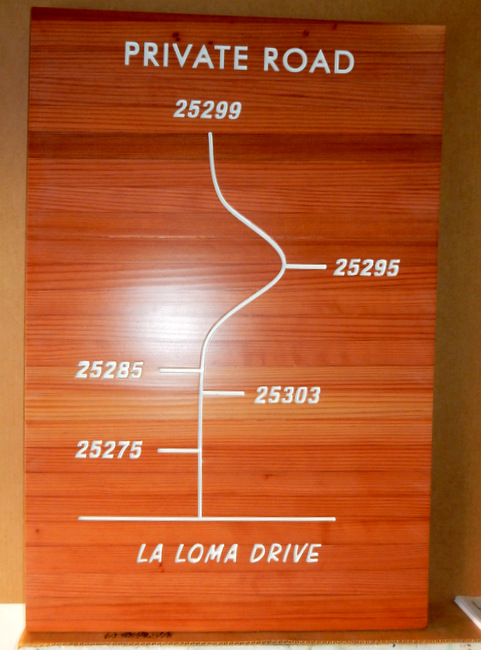 I18936 - Engraved Redwood Street Address Map