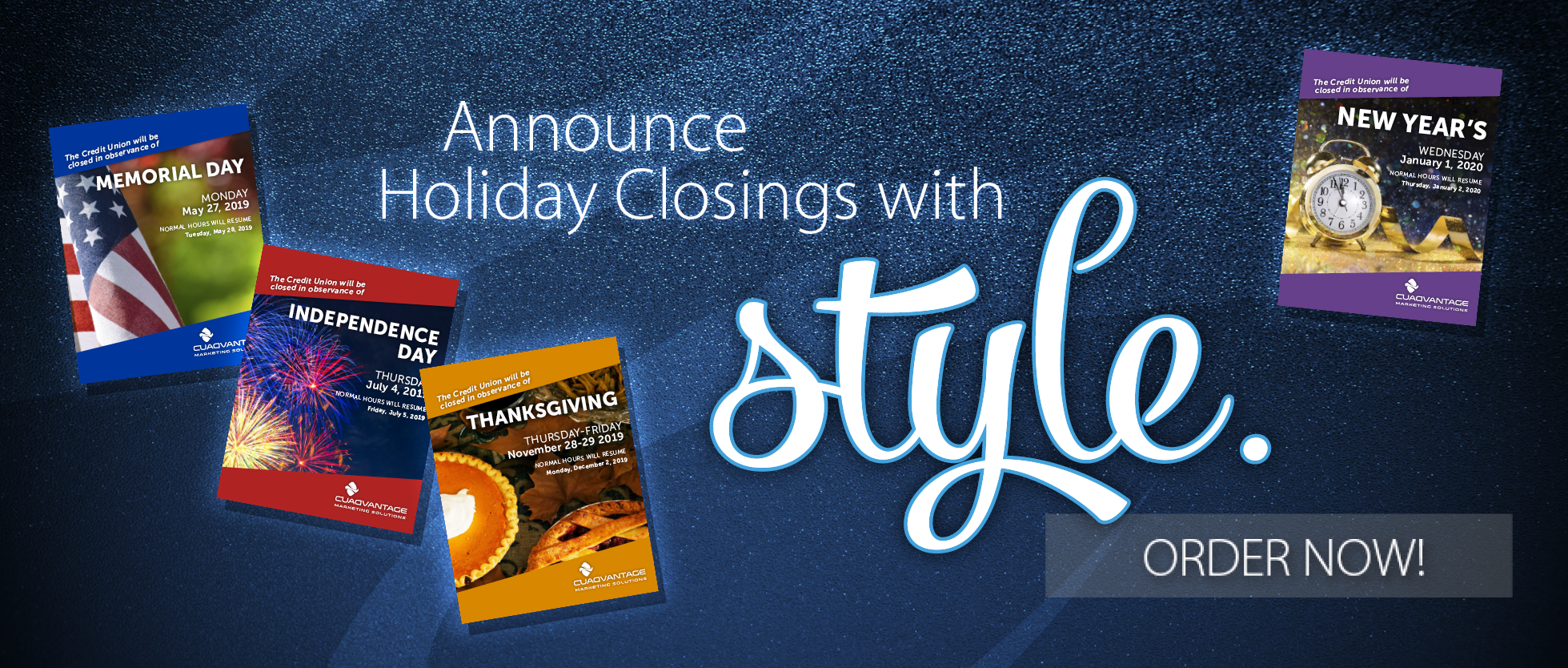Holiday Closing Posters 2019