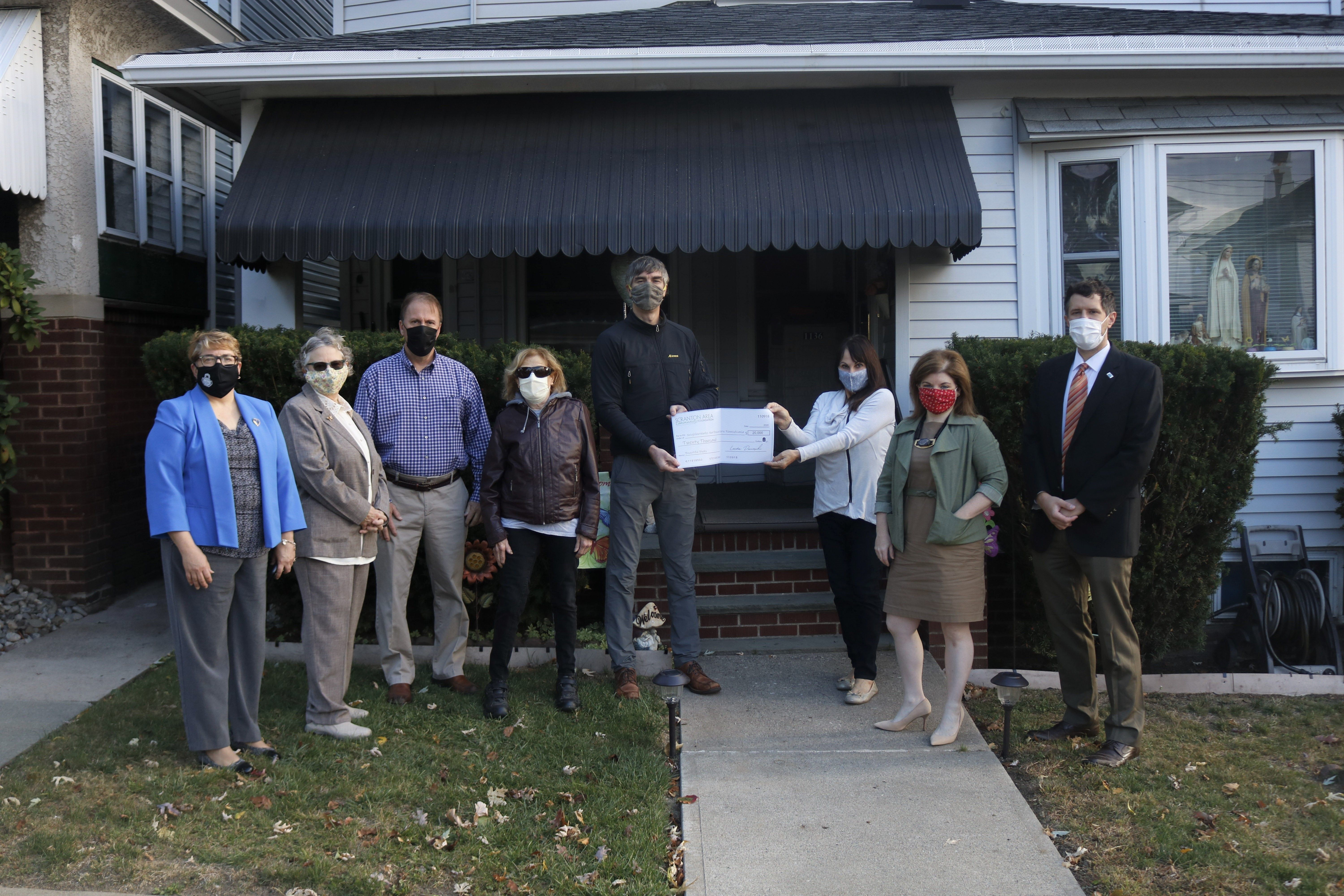 NeighborWorks Accepts Grant from Scranton Area Community Foundation for Beautiful Blocks