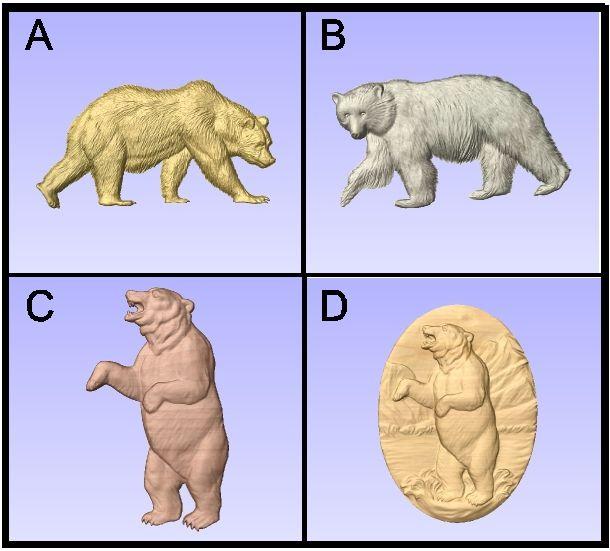 G16466 - Carved Bears