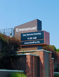 Emmanuel Baptist Church Sign