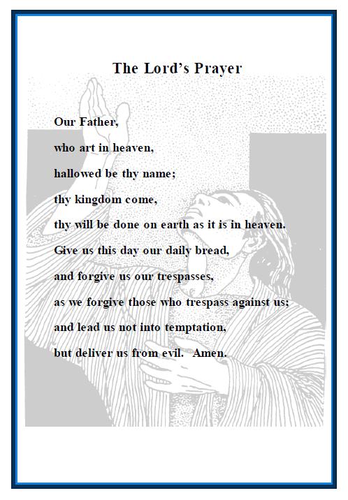 The Lord's Prayer - Prayer Cards