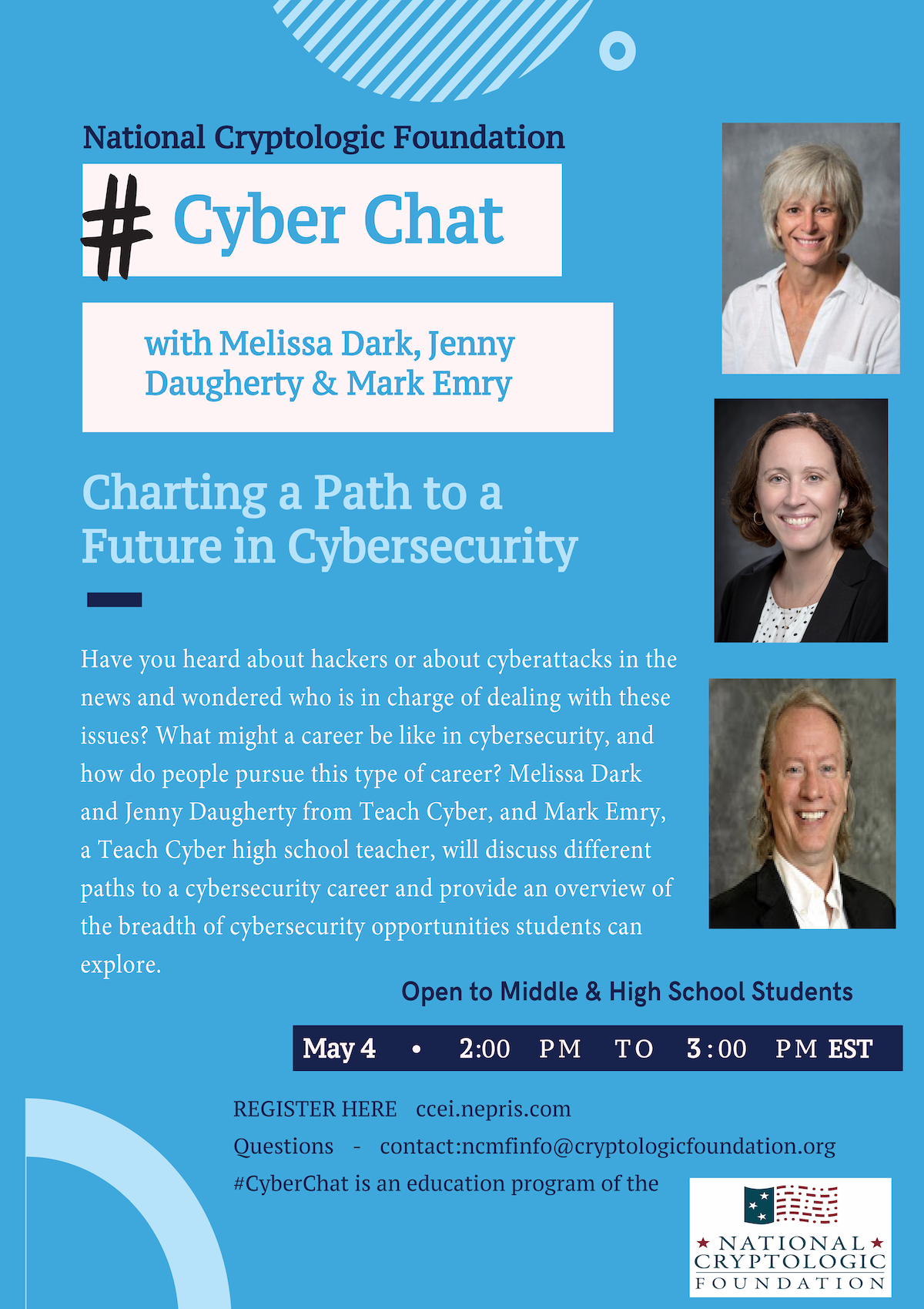 NCF #CyberChat: Charting a Path to a Future in Cybersecurity