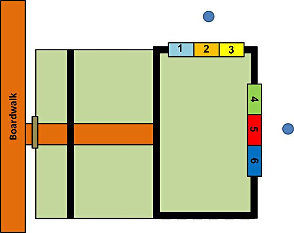 Photo blind interior layout