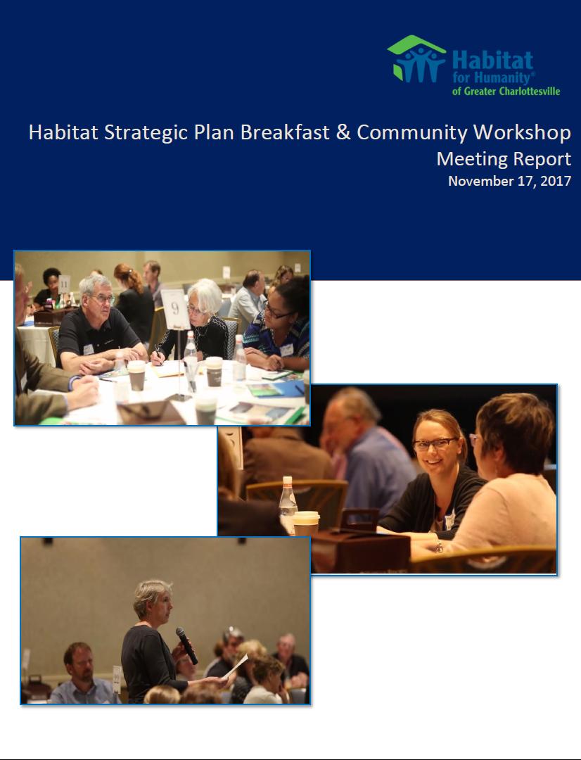 HFHGC Strategic Planning & Community Workshop Report