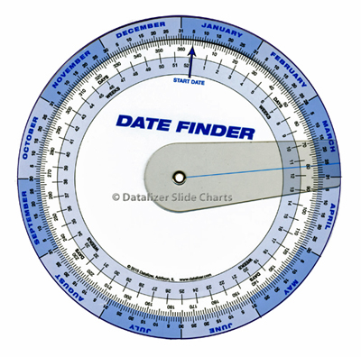 7 Inch Plastic Date Finder with Cursor