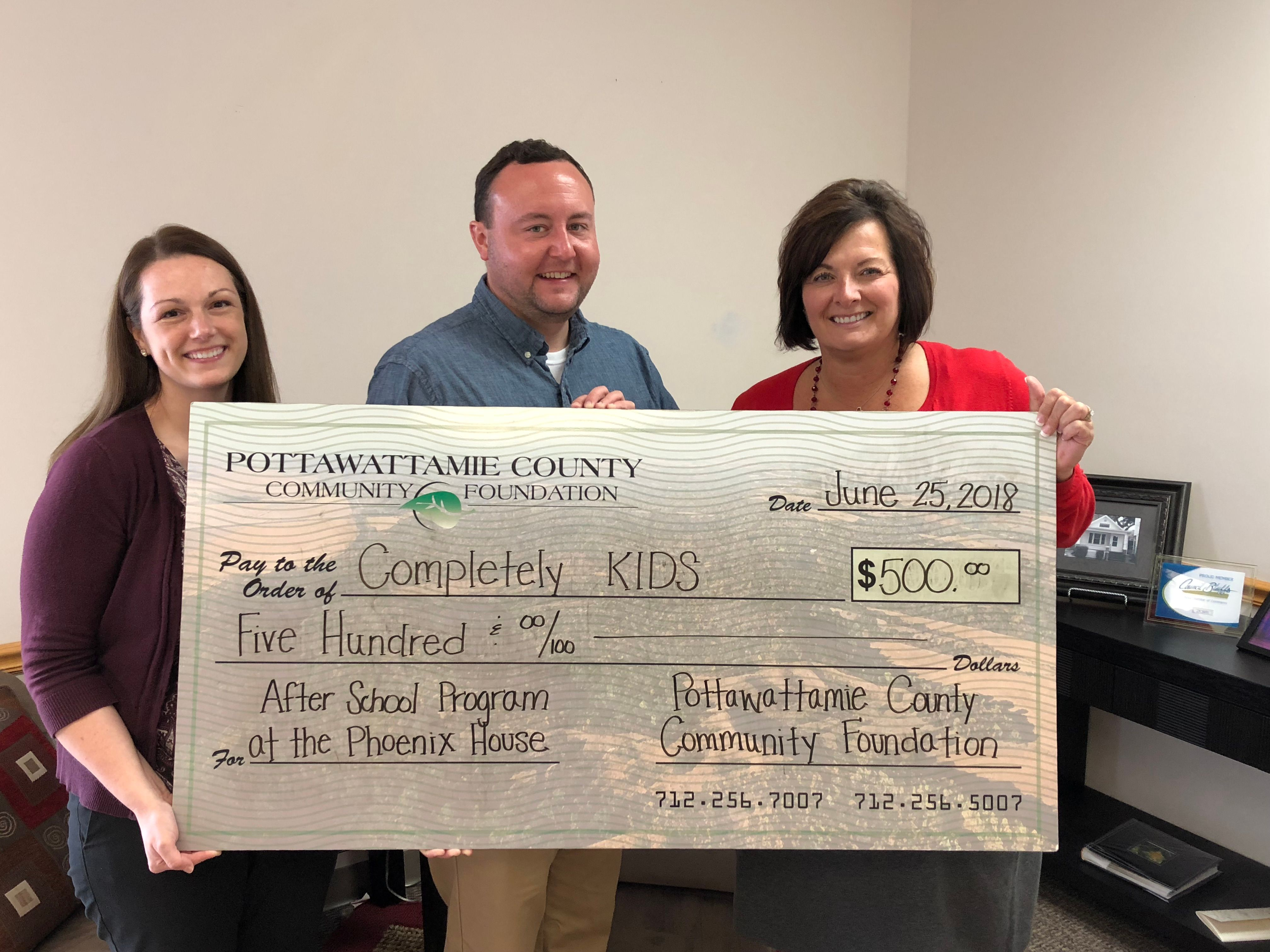 PCCF Awards $500 Grant to Completely KIDS