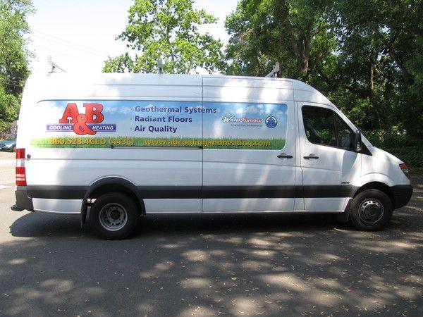 Fleet Graphics, Sprinter Van, Lettering & Graphics, 4 Color Large Format Printed Panel Partial Wrap