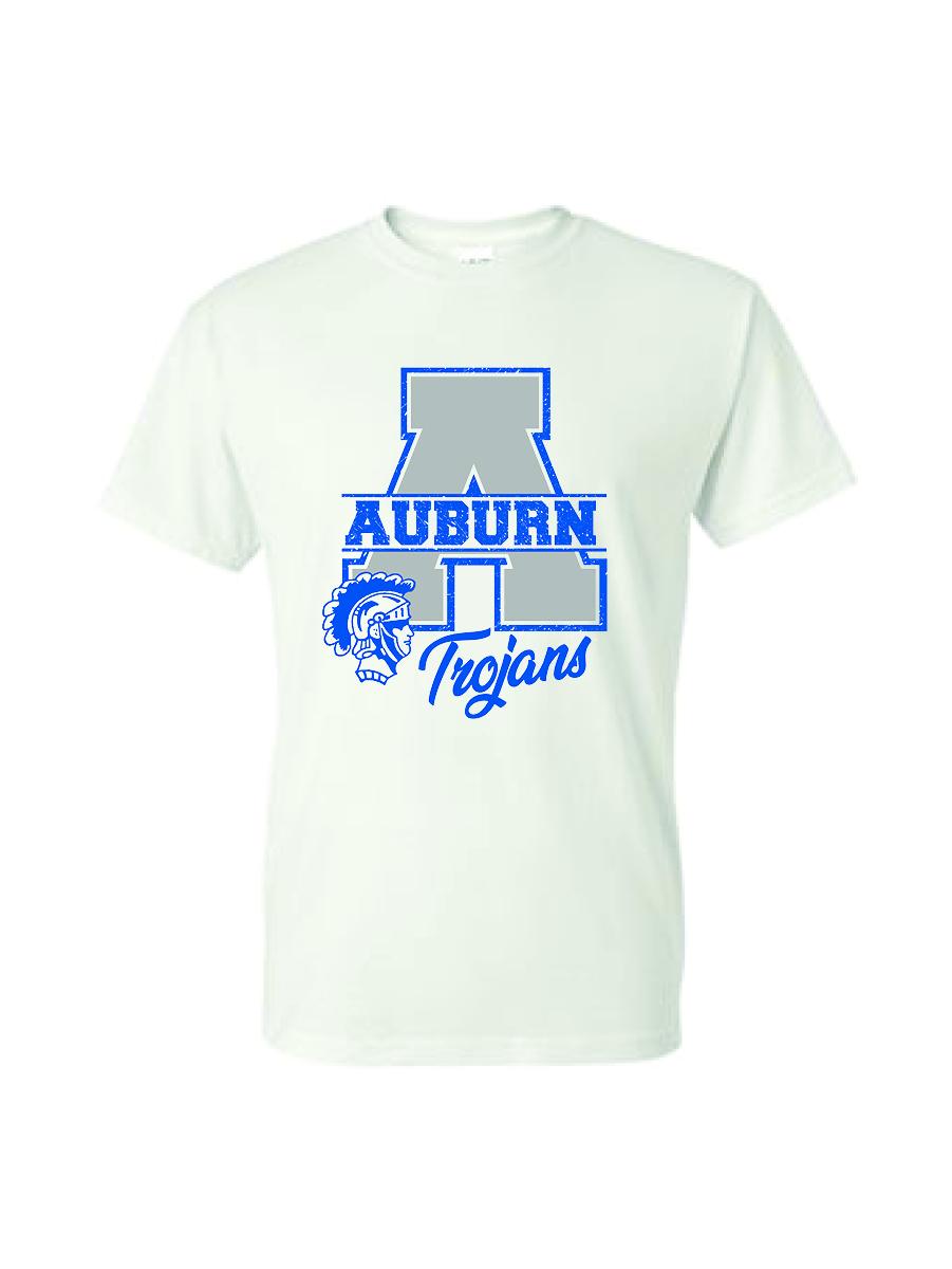 "Auburn ""A"" short sleeve shirt (white)"