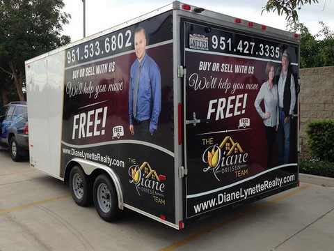 Vehicle graphics for real estate agents in Fullerton CA
