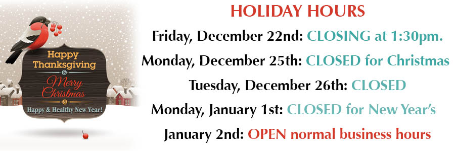 Holiday 2017 Hours