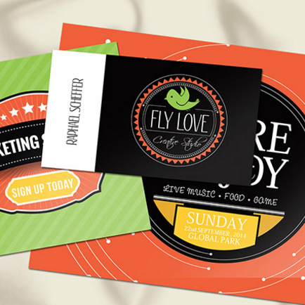 Laminated Silk Business Cards w/Spot UV two sides