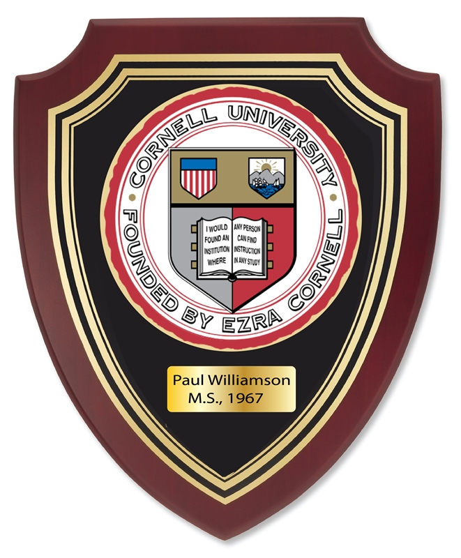 EA-2120 - Seal of Cornell University on Mahogany Plaque
