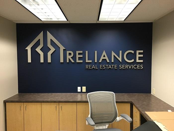 Reception Area Wall Logo