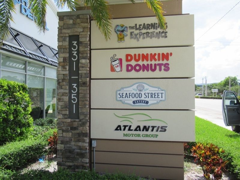 Commercial Monument Signs - Shopping Mall - Sign Company Melbourne Florida