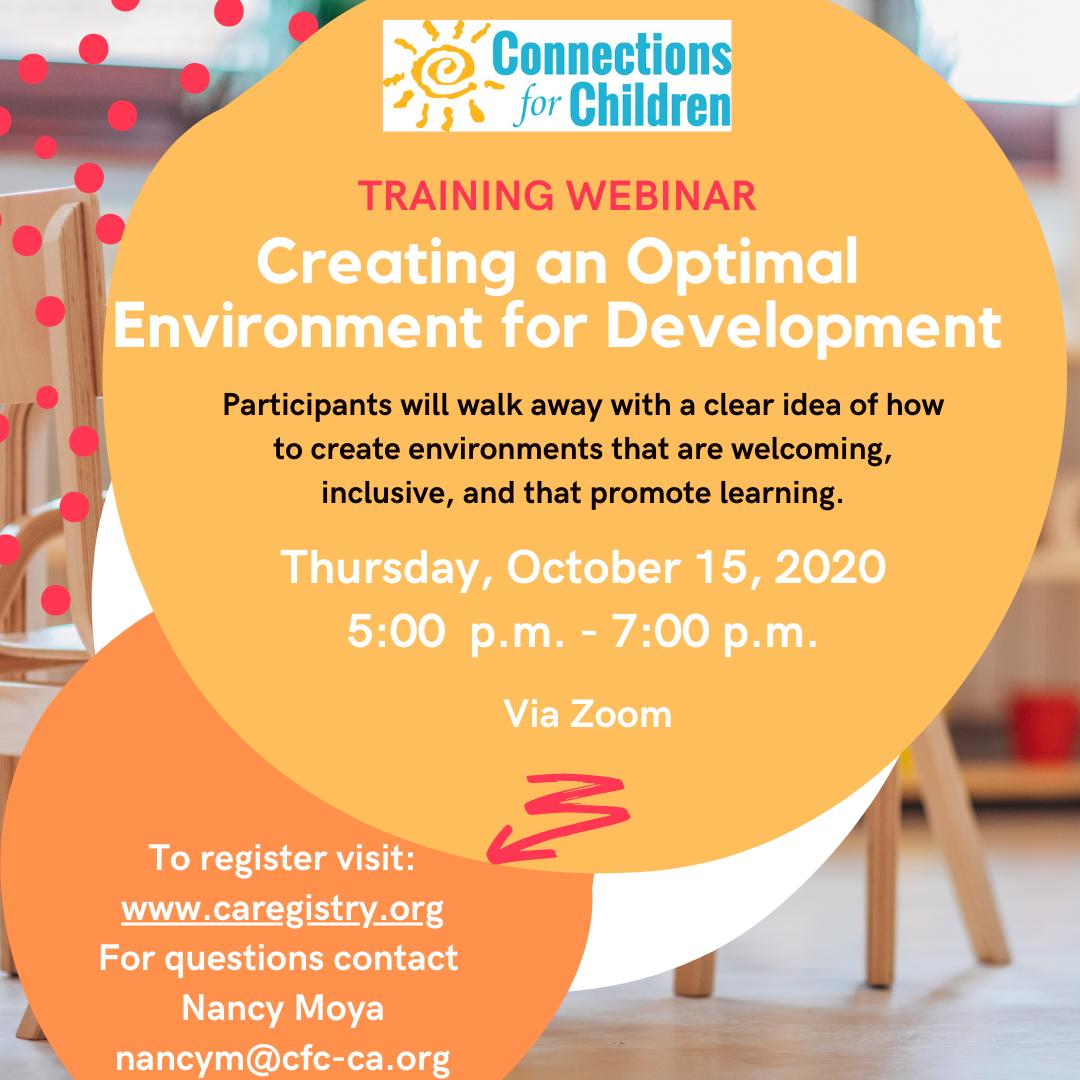 Creating an optimal environment for development
