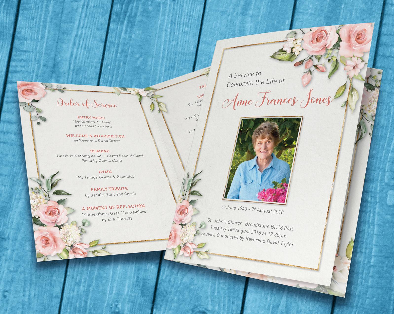 Funeral Printing & Personalised Orders of Service