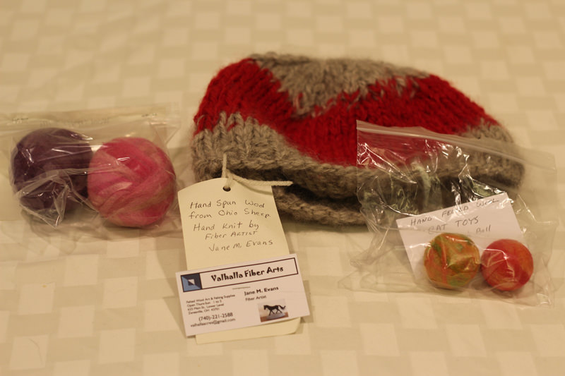 Cat toys - Donated by the artist, Jane M Evans