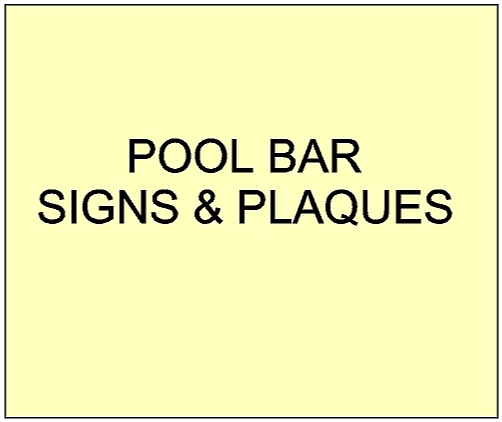 3. - GB16805 - Custom Carved Wood and HDU Pool Bar Signs, with Artist-Painted Artwork