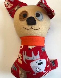 Stuffed Flannel Dog or Baby Toy