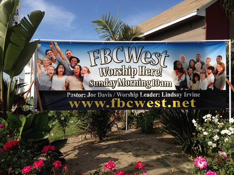 Custom designed vinyl banners Orange County