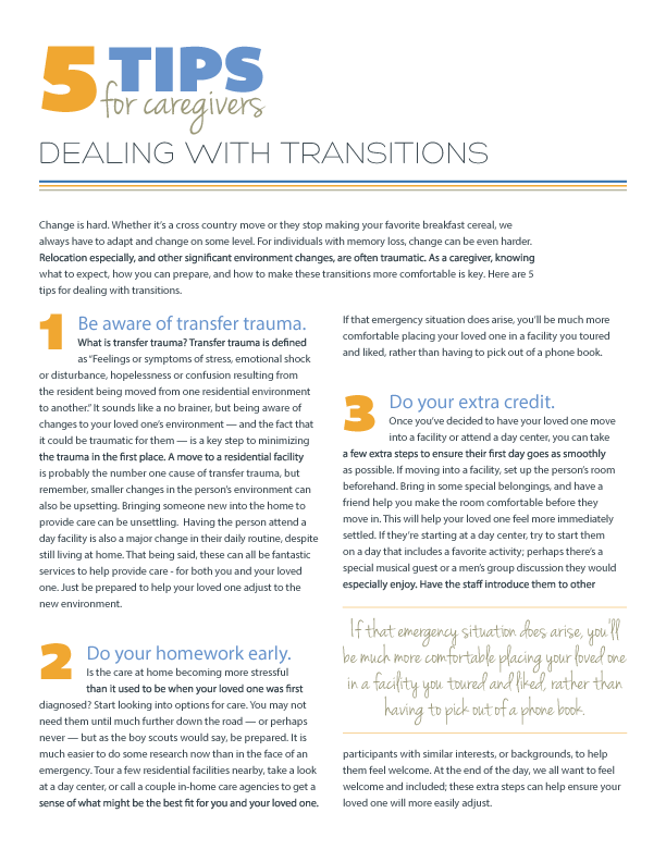 5 Tips for Dealing with Transitions