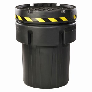 A01LC130  95-Gallon Black Recycled OverPack