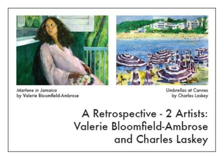 A Retrospective: Valerie Bloomfield-Ambrose and Charles Laskey