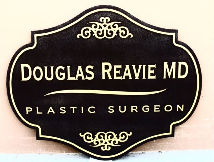 B11021 - Sandblasted, Carved, HDU Sign for Surgery or other Medical Practice.