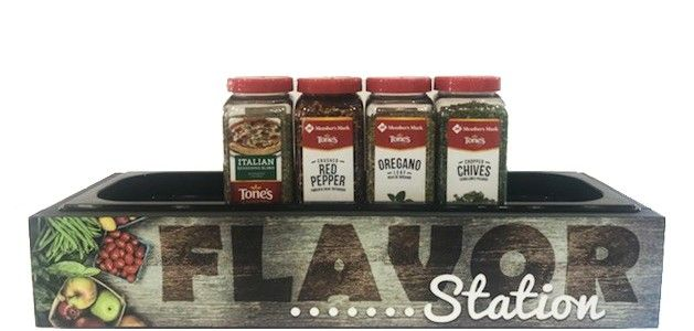 Wood Grain Flavor Station - Single Pan