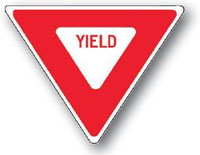 Yield Sign-30 x 30 x 30
