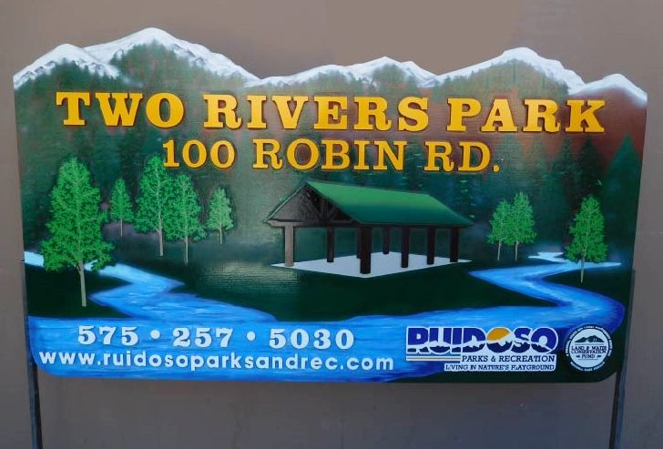 G16207 - Large, Carved, Sandblasted, HDU Sign  for a Park with Recreation Facilities