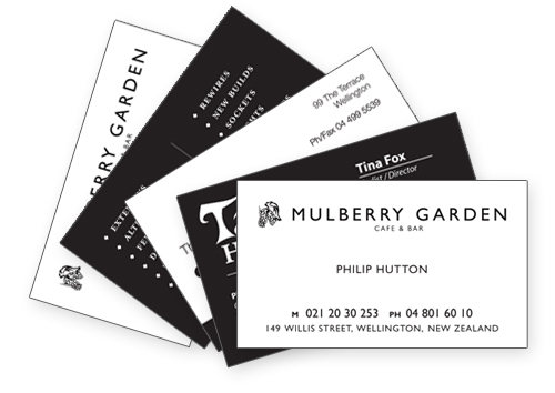 bw thermography - Thermography Business Cards