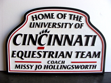 P25231 -  Equestrian Team Sandblasted HDU Sign for Horse Shows