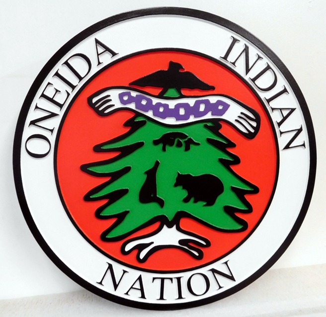 EP-1400 - Carved Plaque of Seal of the Oneida Indian Nation