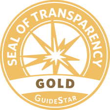 Gold seal of transparency logo.