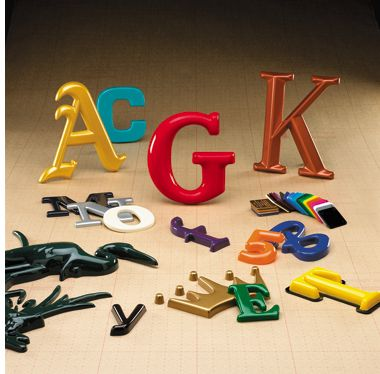 Formed Plastic Letters