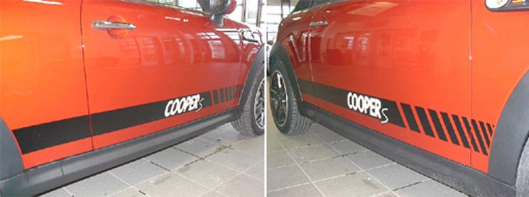 2011 Spice Orange MINI Cooper S with Custom S Side Stripes