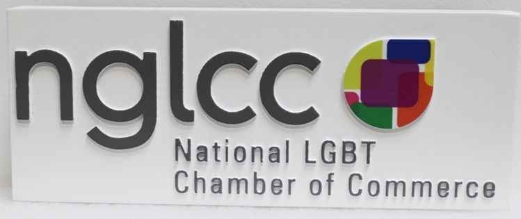 VP-1512 - Carved 2.5-D HDU Plaque of the Logo ofthe National LGBT Chamber of Commerce (nglcc)