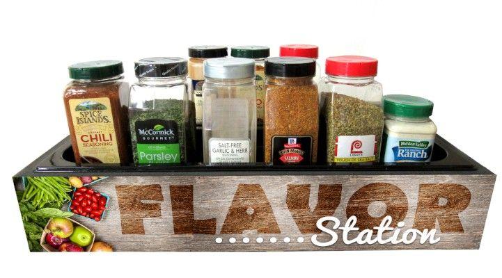 Wood Grain Flavor Station - Double Pan